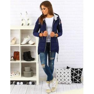 Tmavě modrá dámská zimní bunda