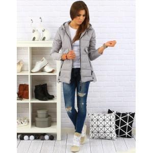Dámská zimní bunda šedé barvy