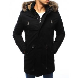 Pánská zateplená bunda černé barvy