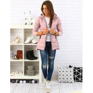Růžová dámská podzimní bunda na zip