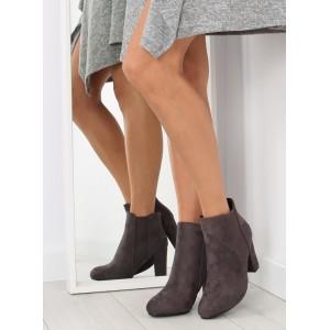 Teplá dámská kotníková obuv šedé barvy