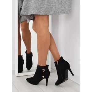 Černá dámská kotníková obuv
