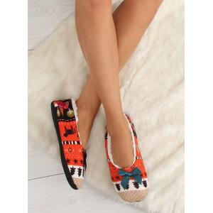 Červené dámské pantofle s mašlí