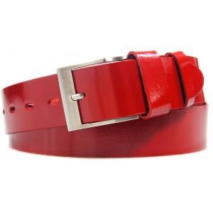 Elegantní pánský opasek červené barvy