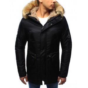 Pánská zimní bunda černé barvy