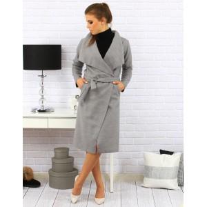 Dámský kabát šedé barvy