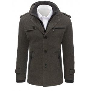 Šedý pánský kabát na zimu