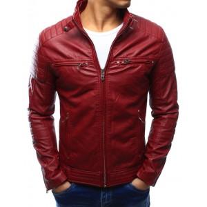Červená pánská kožená bunda
