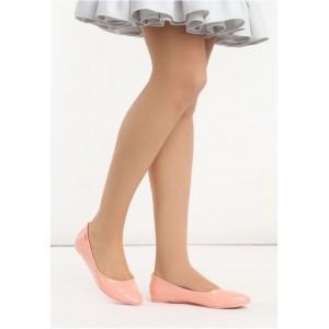 VELIKOST 36 Dámské balerínky v růžové barvě lesklé