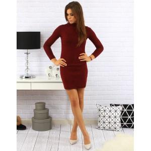 Bordó dámské šaty nad kolena
