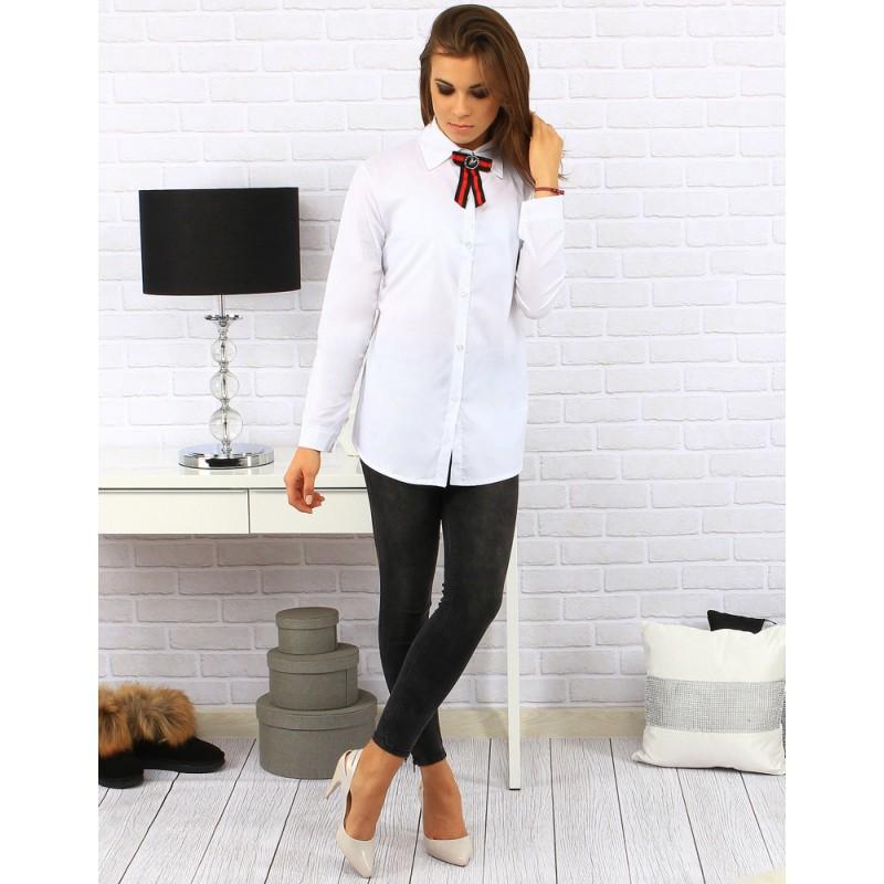 ... košile Bílá dámská košile s červeno černou mašlí. Předchozí c2a602624a