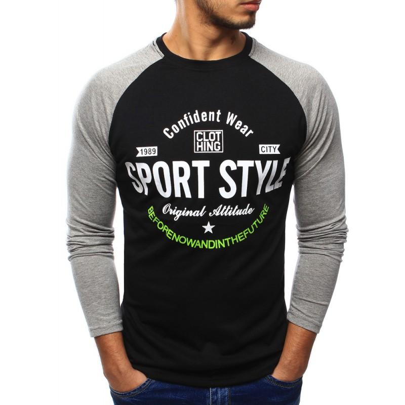 e5c0715abed ... trička Sportovní pánské tričko černé barvy s dlouhým rukávem a nápisem.  Předchozí