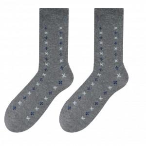 Pohodlné pánské ponožky šedé barvy se vzorem