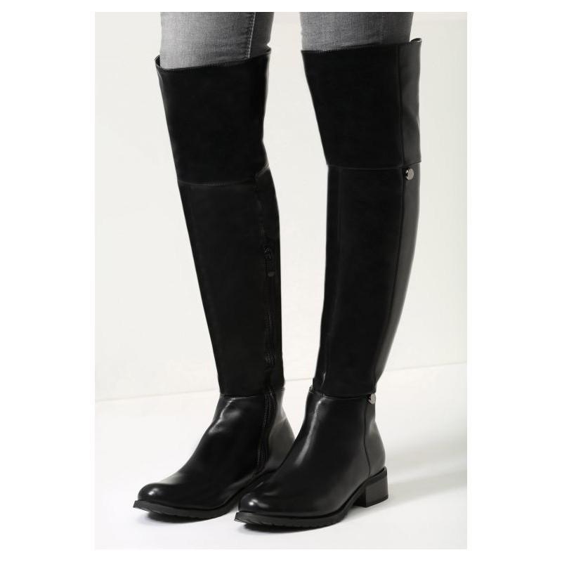 1d76bc163918 Předchozí. Elegantné dámske čierne čižmy na zimu na nízkom podpätku so  zapínaním na zips · Elegantné ...
