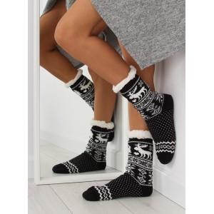 Moderní dámské černo bílé ponožky v skandinávském stylu