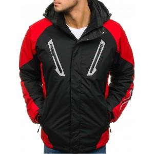 Pánská lyžařská SKI bunda s kapsami černé barvy