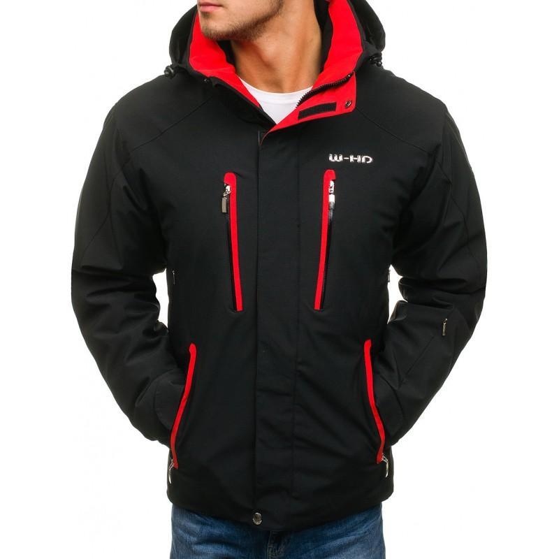 Sportovní pánské lyžařské bundy s kapucí černé barvy - manozo.cz a0b05f1dc0