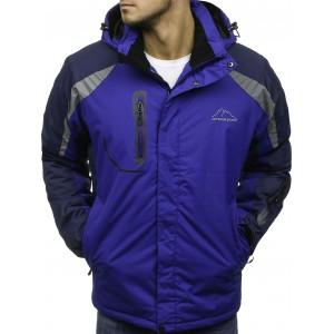 SKI pánská bunda s kapsami na zip modré barvy