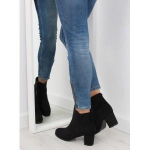 Elegantní dámské vysoké boty černé barvy