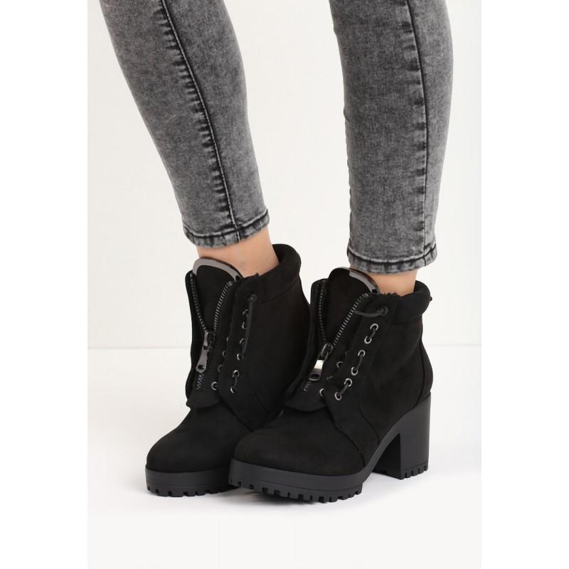 ... dámské kotníkové boty černé barvy na hrubém podpatku. Předchozí 65da307b87