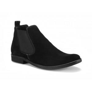 COMODO E SANO pánské černé kožené kovbojky na podpatku