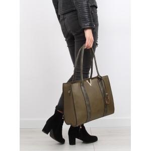 Elegantní dámská kabelka na rameno zelené barvy s nastavitelným ramínkem