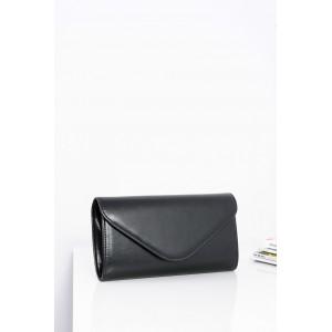 Matná večerní dámská kabelka v černé barvě s odepínatelným ramínkem