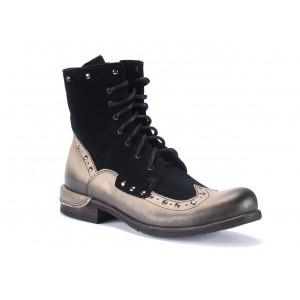 Kožené pánské kotníkové boty v černé barvě COMODO E SANO