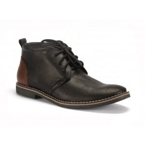 Černé kožené pánské boty COMODO E SANO na šněrování