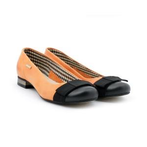 Oranžoví dámské baleríny se zaoblenou špičkou na léto