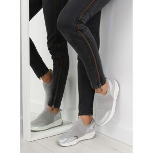 Pohodlná dámská sportovní obuv šedé barvy s bílou podrážkou a gumou