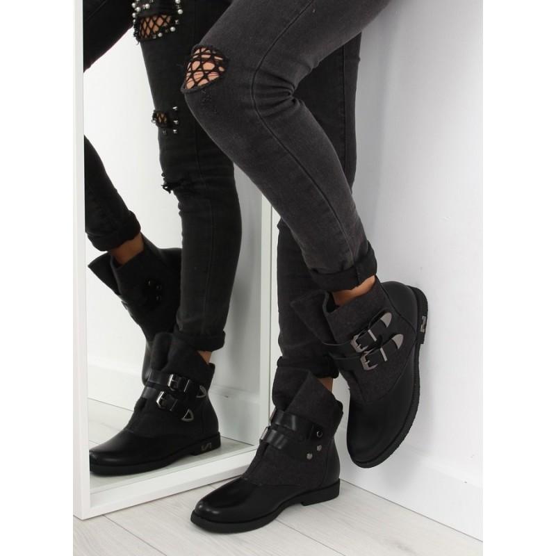 ... obuv Černé zateplené dámské boty na zimu s přezkami. Předchozí f23cf213ac5
