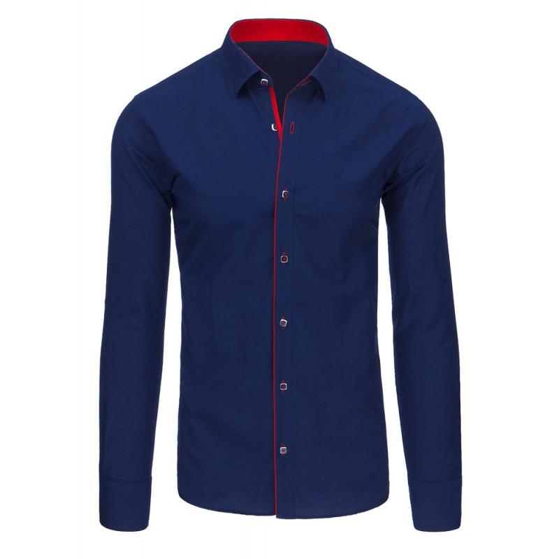 ... rukávem Pánská formální košile s dlouhým rukávem modro červené barvy.  Předchozí 7a386e35cc