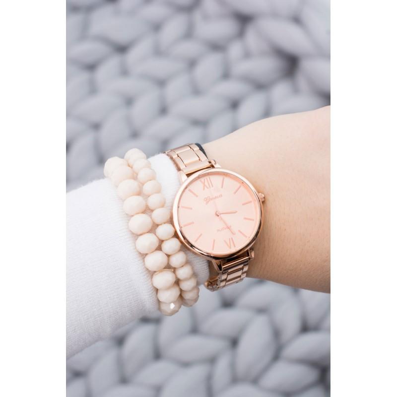 850def8fdc8 ... hodinky Luxusní měděné dámské hodinky s kovovým řemínkem a římskými  číslicemi. Předchozí