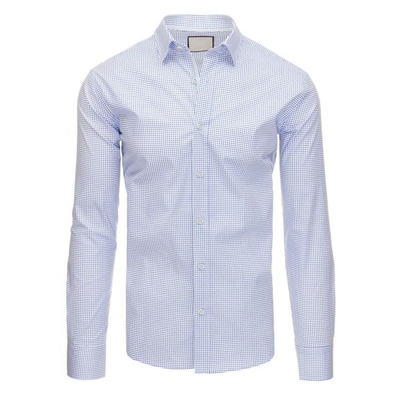 ... rukávem Bílá elegantní pánská košile s tečkovaným vzorem modré barvy.  Předchozí 4deda577d8