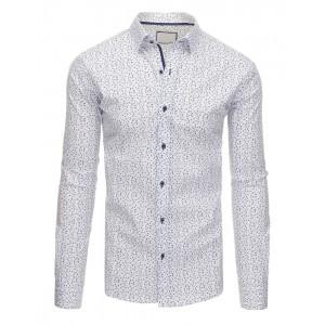 Bavlněné pánské bílé košile se vzory na každou příležitost