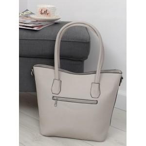 Šedá dámská elegantní kabelka s kapsou na zip na zadní straně