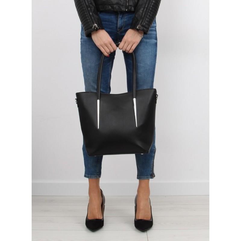 Moderní dámské kabelky do ruky i přes rameno černé barvy - manozo.cz b82d3ef8448