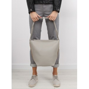 Dámská šedá kabelka do ruky s kosmetickou taškou