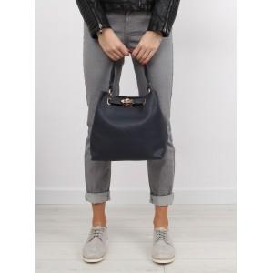 Dámske kabelky do ruky so zapínaním na zips čiernej farby 2 v 1