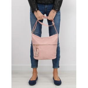 Dámská růžová kabelka na rameno s nádechem elegance