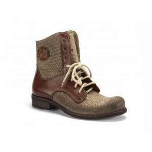 Pánské zimní kotníkové kožené boty COMODO E SANO v hnědé barvě