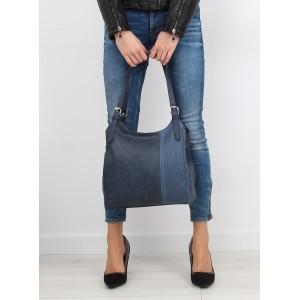 Dámská tmavomodrá kabelka do ruky se dvěma řemínky
