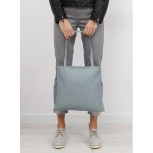 Modrá dámská SHOPPER kabelka s malou kosmetickou taškou navíc
