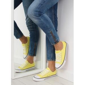 Dámské moderní sportovní boty na léto ve žluté barvě