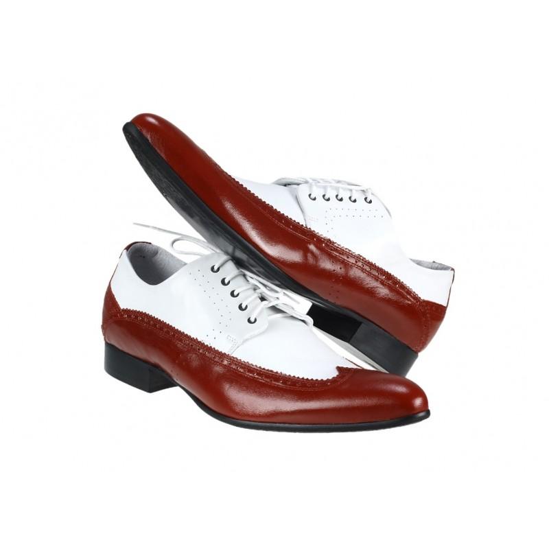 5f9654bcea ... topánky biele PT062 · Pánske kožené extravagantné ...