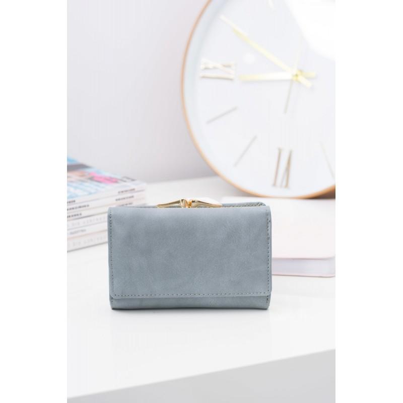 3340502cdc0 Elegantní malá dámská peněženka šedé barvy se sponou - manozo.cz