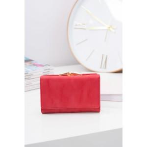 Malé kožené dámské peněženky červené barvy