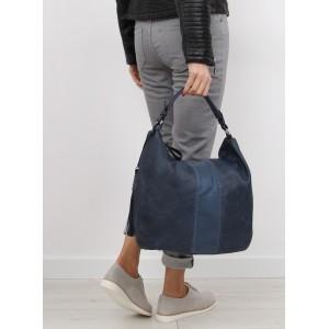 Tmavěmodrá dámská kabelka s odnímatelným a nastavitelným popruhem