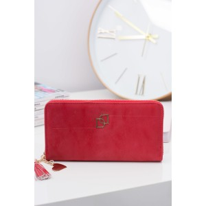 Moderní červené peněženky se zipem pro elegantní dámy